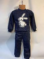 """Детский костюм для девочек """"Зайка"""" 2-5лет, синего цвета"""