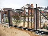 Откатные ворота Platogor 3000x2000 въездные самосварные, фото 8