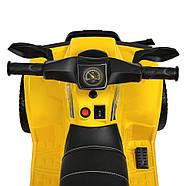 Дитячий квадроцикл Bambi M 4207EL-6 жовтий Гарантія якості Швидка доставка, фото 3