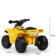 Дитячий квадроцикл Bambi M 4207EL-6 жовтий Гарантія якості Швидка доставка, фото 6