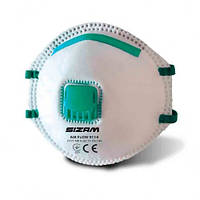 Респіратор одноразовий з клапаном 20шт/уп. Sizam 9114