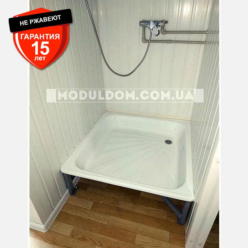 Вагончик санитарный (6 х 2.4 м.), душевые кабинки 5 шт., на основе цельно-сварного металлокаркаса.
