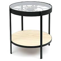 Журнальный столик с часами - Steel Gears 50 cm, фото 2