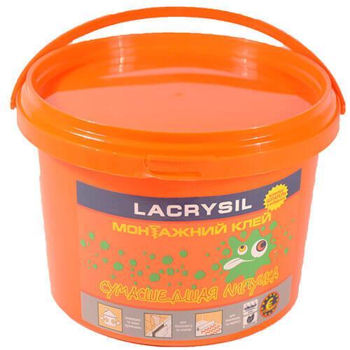 Клей монтажний універсальний акрил. 'Божевільна липучка' LACRYSIL, 12,0 кг