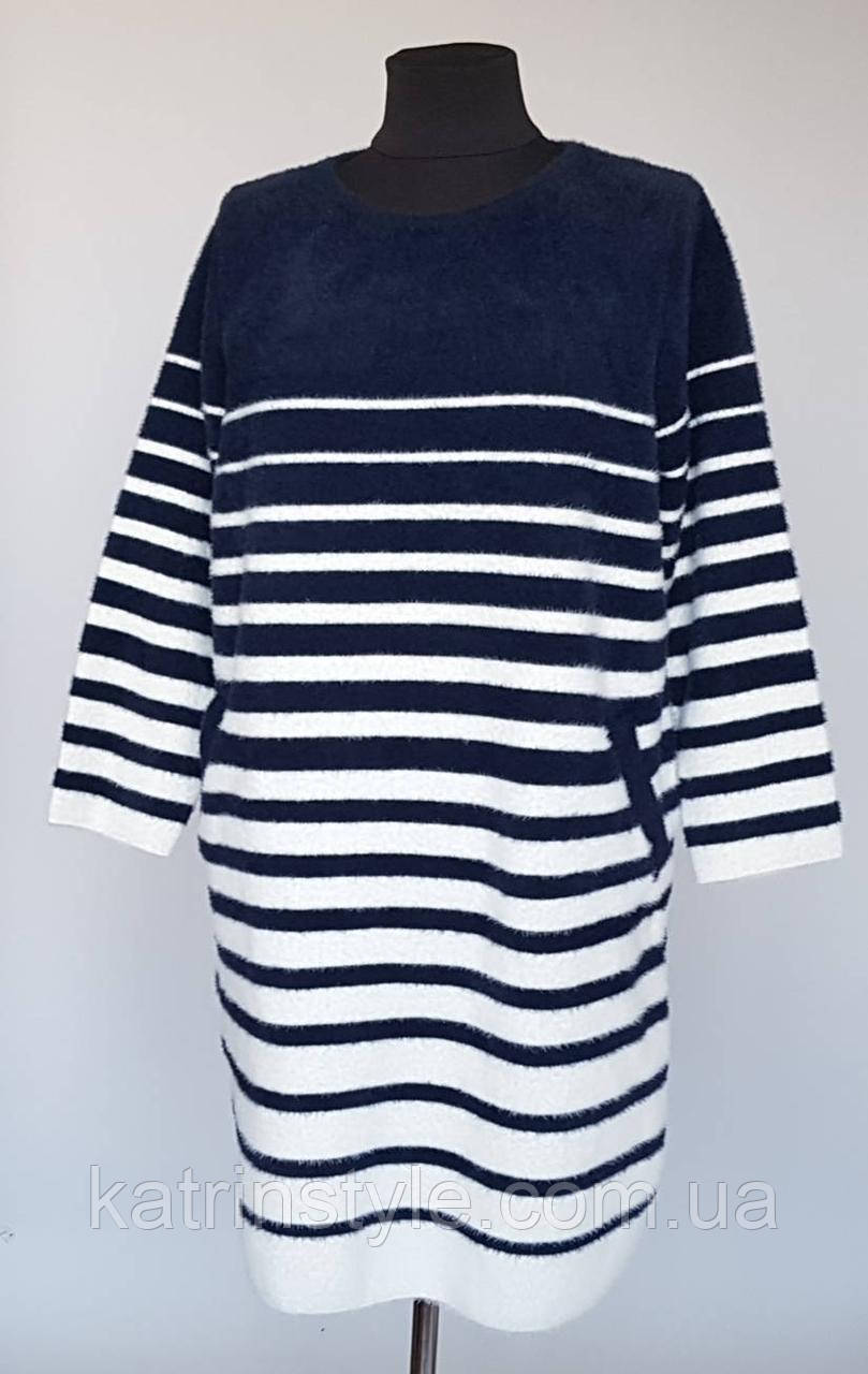 Женское меховое платье «Альпака Фасон» с карманами (58/60)
