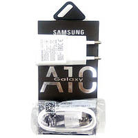 Сетевое зарядное устройство СЗУ Samsung A10 Fast charger (5V-2A/9V-1.6A) 2in1 + microUSB (картон) белый