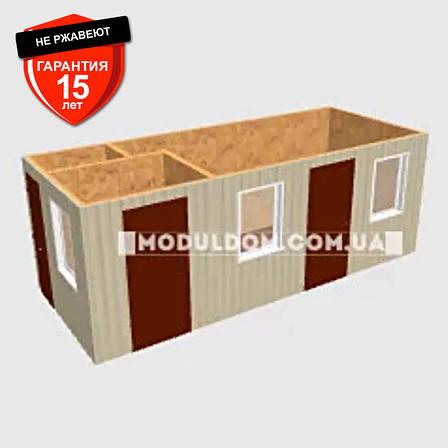 Пост охраны (6 х 2.4 м.), вагончик с пунктом пропуска, офисом и санузлом., фото 2
