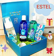 """Подарочный набор(пена для ванны,шампунь и пенка для умывания)Эстель """"У нас сани едут сами"""" Estel Little Me"""