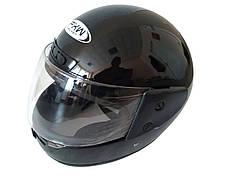 Шлем закрытый HF-101 (size: M, черный глянцевый)