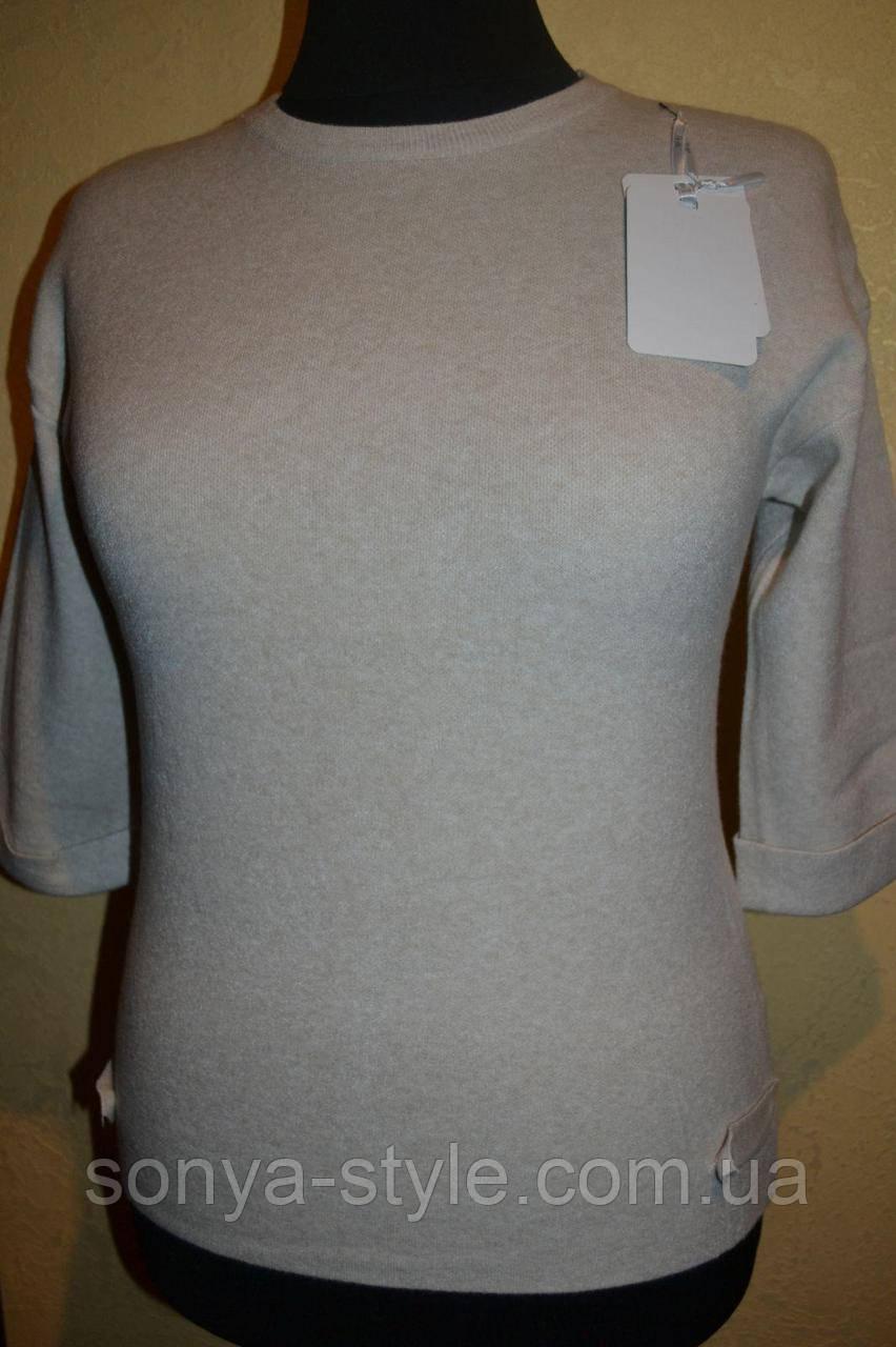 Женская кофта рукав 3/4   больших размеров
