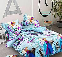 Комплект постельного белья полуторный, ранфорс 100% хлопок. Постільна білизна. (арт.13243)
