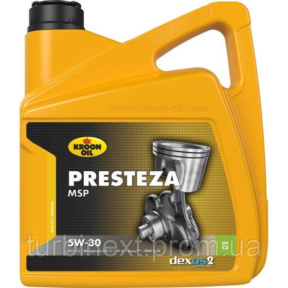 Масло моторное PRESTEZA MSP 5W-30 4л KROON OIL 35137