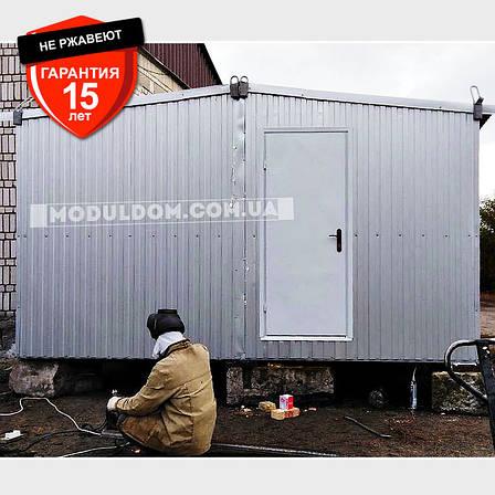 Вагончик 2-х модульный, мобильный (6 х 4.8 м.), для производства, офиса, штабной. на основе металлокаркаса., фото 2