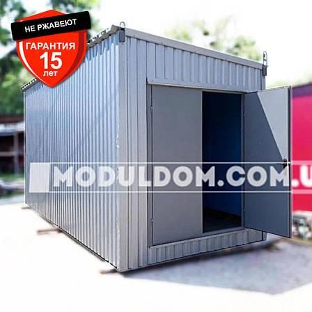 Хозяйственный модуль (6 х2.4 м.) с распашными воротами, фото 2