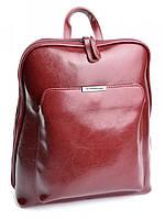 Рюкзак женский кожаный бордовый MH-8628 W.Red, фото 1