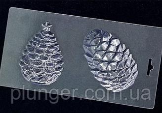 Форма пластиковая для шоколада Елочка и шишка