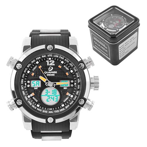 Часы наручные Quamer 1526 водонепроницаемые в подарочной коробке