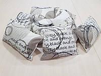 Комплект подушек   Абстракция круги и надписи   8шт, фото 1