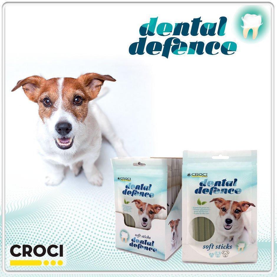 Лакомства для собак для чистки зубов зеленый чай CROCI DENTAL 60 г