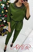 Костюм женский стильный брючный в расцветках 41635, фото 1