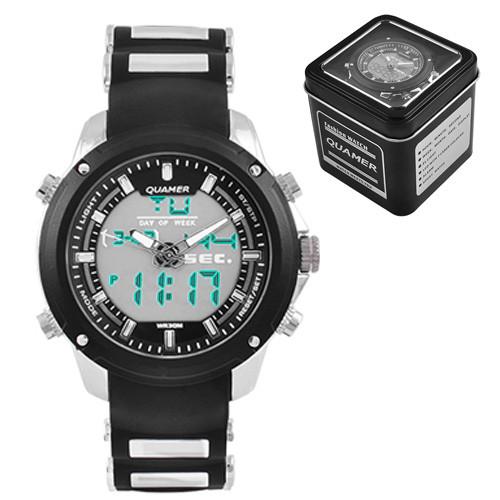 Часы наручные Quamer 1605 водонепроницаемые в подарочной коробке