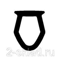 Уплотнитель паза штапика(серый)