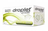 Иглы для инсулиновых шприц-ручек Droplet, 4 мм 32G