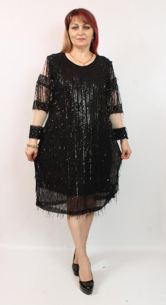 Турецкое вечернее женское платье в пайетках, размеры 54-62