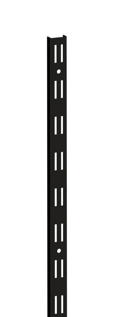 Стійка 1000мм перфорована чорного кольору в гардеробній системі зберігання Україна