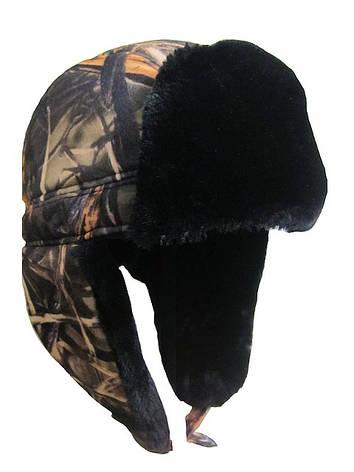 Камуфлированная теплая шапка, фото 2