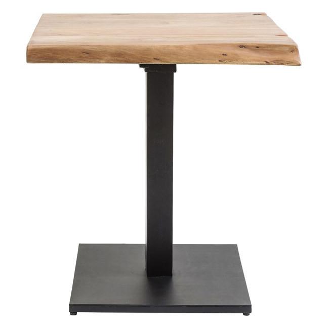 Квадратные столы для кафе баров из массива дерева живой край