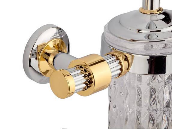 Ершик настенный KUGU Maximus 605C&G (латунь, хром, золото, стекло)(Бесплатная доставка  ), фото 2