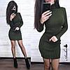 Платье .  Размер единый:42-46. Цвет: хаки, беж, белый, пудра, чёрный,оливка, темно-зелёный (5338), фото 10