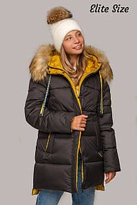 Теплая зимняя куртка батал с утеплителем тинсулейт 50-56 р