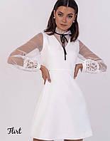 Женское Платье с сеткой и кружевом