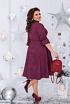 Платье  БАТАЛ миди замш в расцветках 1605107, фото 3