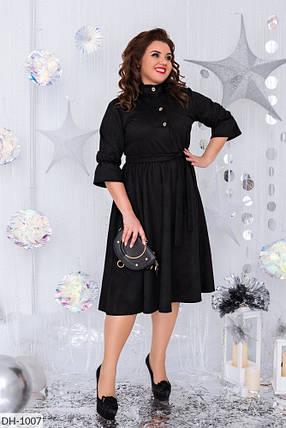 Платье  БАТАЛ миди замш в расцветках 1605107, фото 2