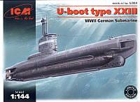 Сборная модель немецкой подводной лодки в масштабе 1/144 U-Boot type XXIII. ICM S004