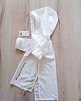 Детская пляжная туника белая хлопок туника для девочки летнее платье рубашка хлопок пляжная рубашка