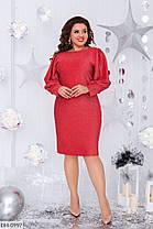 Платье  БАТАЛ люрекс в расцветках 1605118, фото 3