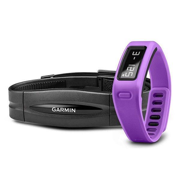 Фитнес браслет Garmin Vivofit Purple HRM Bundle