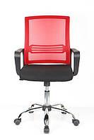 Офисное кресло  черно-красное сетка MANILA