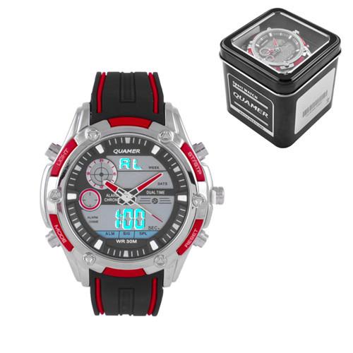 Часы наручные Quamer 1313 водонепроницаемые в подарочной коробке
