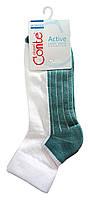 Спортивные женские носки Conte Active с махровой стопой 7С-56СП, р.25, белый-серо-бирюзовый, рис.026