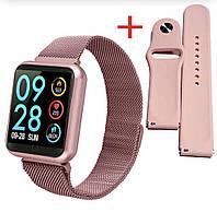 Смарт-часы p70 розовые smartwatch с тонометром