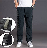 Зимние мужские штаны брюки двухслойные флисовые М