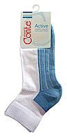 Спортивные женские носки Conte Active с махровой стопой 7С-56СП, р.23, белый-голубой, рис.026