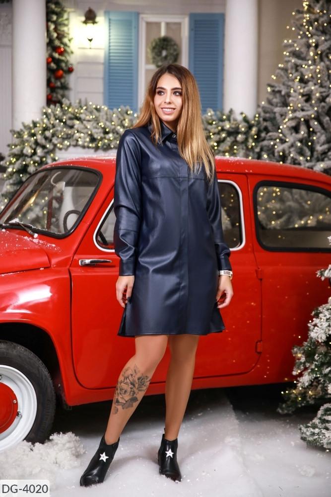 Сукня екокожа 165115