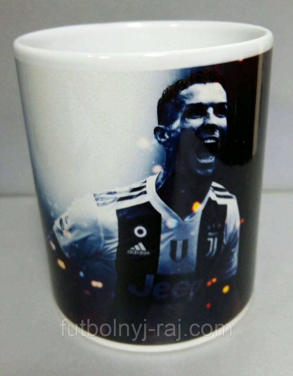 Чашка чайная футбольная с изображением Криштиану Роналду