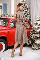 Платье миди замш в расцветках 165108, фото 3